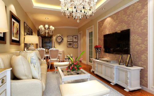 欧式新古典二居室客厅装修图片欣赏