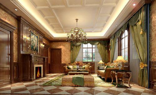 西式古典六居室客厅吊顶装修效果图