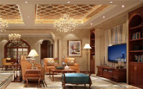 新古典风格六居室客厅照片墙装修图片