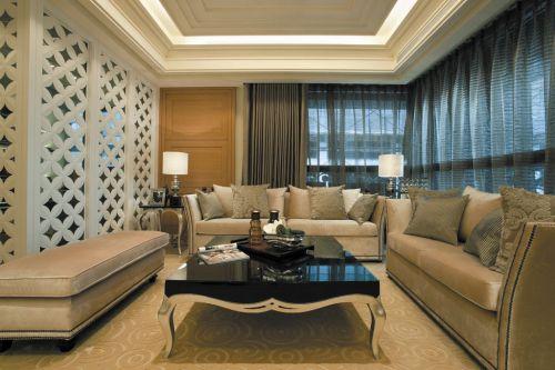 新古典风格三居室客厅飘窗装修效果图欣赏