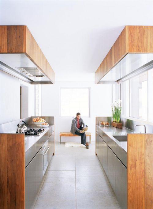 现代简约风格敞开式厨房装修图