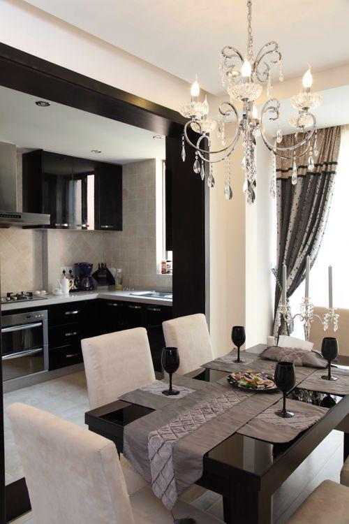 现代简约别墅厨房飘窗装修效果图欣赏