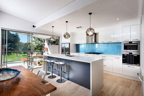 奢华大气现代风格开放式厨房装修设计
