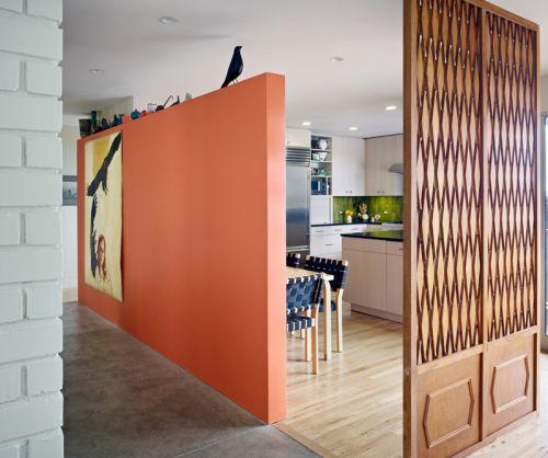 现代简约风精巧75平两室厨房屏风效果图