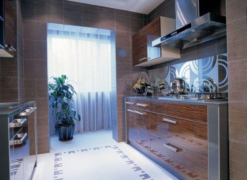 原木色现代风格厨房装修设计