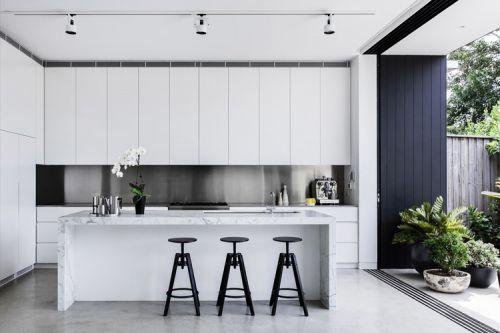 现代简约风格休闲雅致厨房吧台效果图