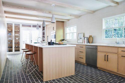现代简约风格轻奢小资厨房吧台设计图