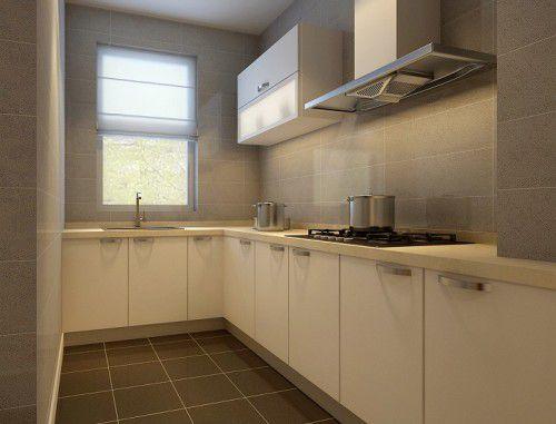 现代简约一居室厨房装修效果图大全