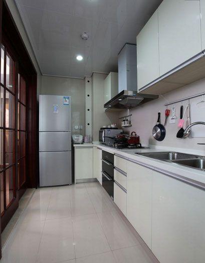 现代简约一居室厨房灯具装修图片