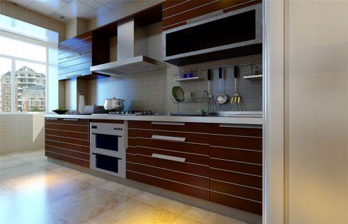 现代简约三居室厨房灶台装修图片