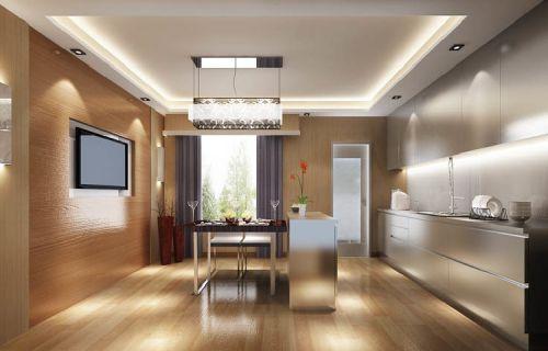 现代简约三居室厨房窗帘装修效果图欣赏