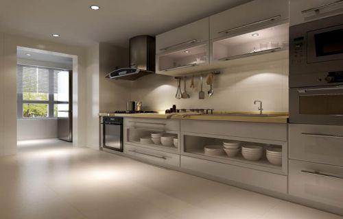 现代简约三居室厨房吊顶装修图片