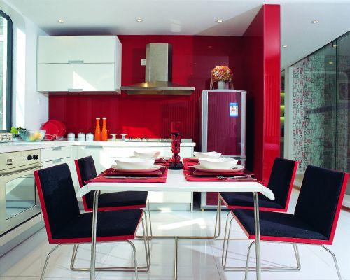 现代简约三居室厨房隔断装修效果图