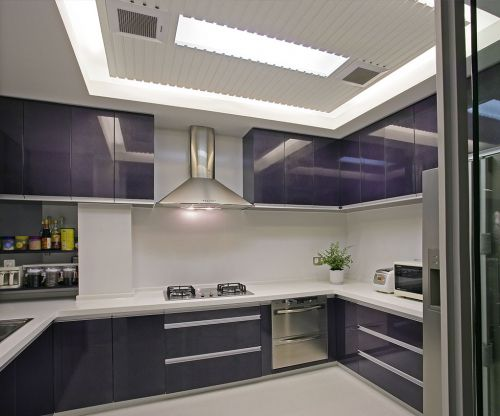现代简约二居室厨房灯具装修效果图欣赏