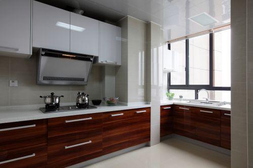 现代简约三居室厨房灶台装修效果图大全