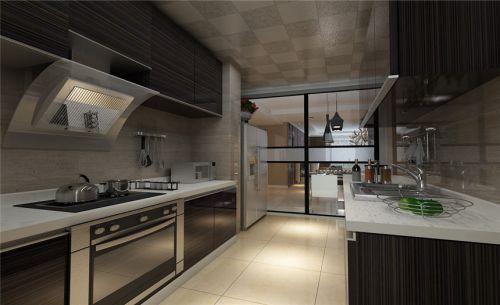现代简约四居室厨房橱柜装修效果图