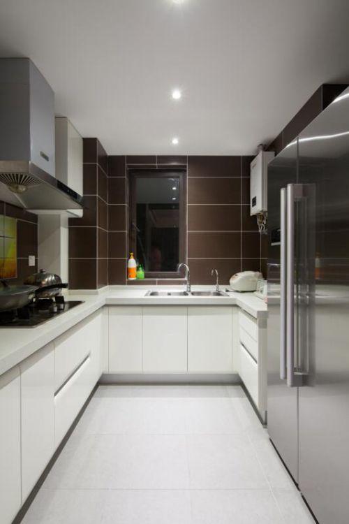 现代简约四居室厨房灶台装修图片