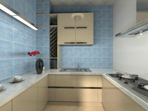 现代简约二居室厨房灶台装修效果图