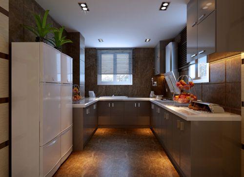 现代简约别墅厨房灯具装修效果图大全