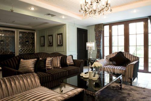 韩式风格别墅客厅装修图片欣赏