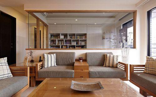 简洁日式风格客厅新房装修设计欣赏