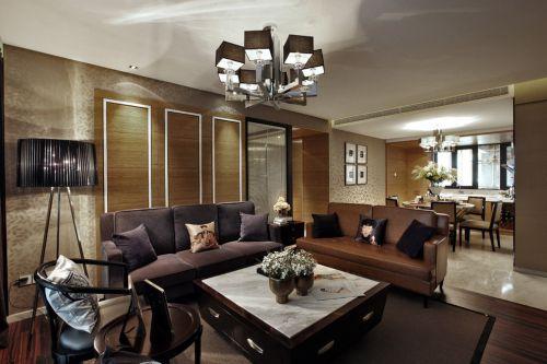韩式风格二居室客厅吊顶装修图片