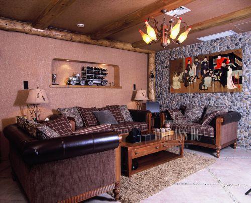 韩式风格别墅客厅装修图片