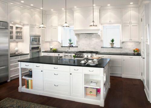 白色简欧整体厨房效果图