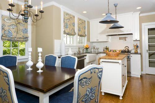 简欧风格三居室蓝色雅致厨房装修效果图