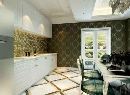 简欧风格三居室厨房橱柜装修效果图欣赏
