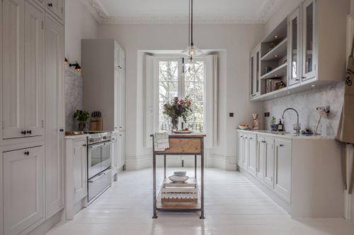 精致简欧风格纯白色厨房装修效果图