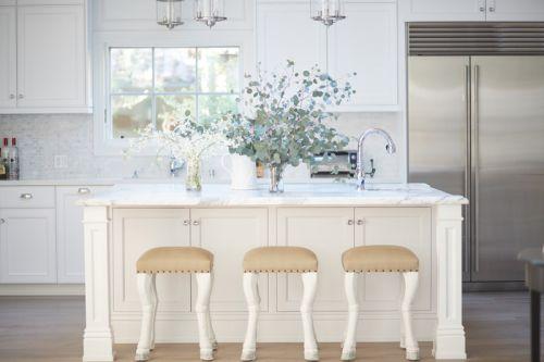 简欧风格优雅浪漫厨房吧台设计图