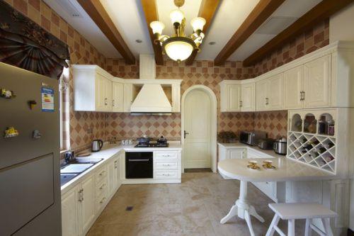 简欧风格别墅厨房背景墙装修效果图欣赏