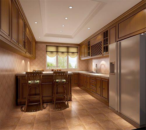 简欧风格三居室厨房储物柜梳妆台装修效果图欣赏