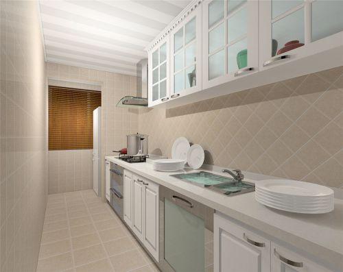 简欧风格二居室厨房装修效果图欣赏