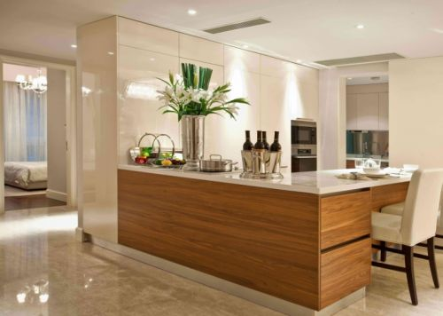 简欧风格二居室厨房灯具装修效果图欣赏