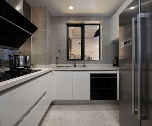 中式风格三居室厨房灶台装修效果图欣赏
