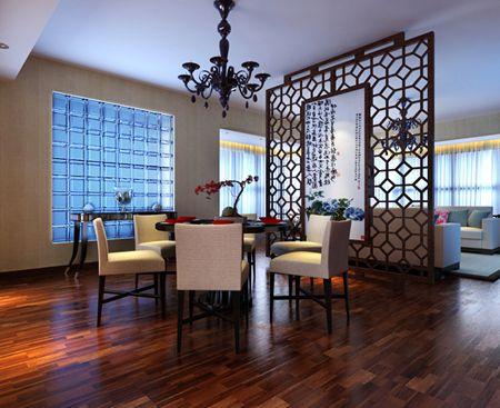 中式古典二居室厨房背景墙装修效果图欣赏