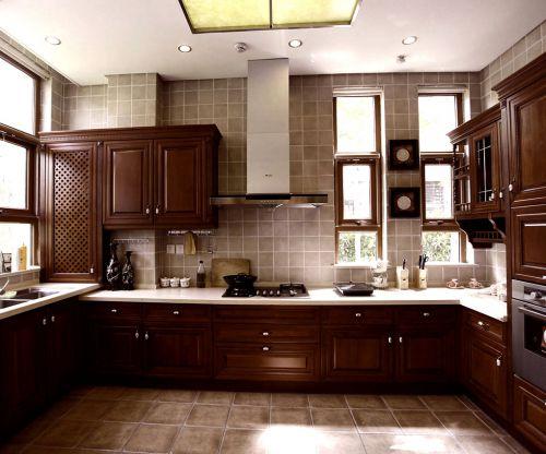 中式风格三居室厨房灯具装修效果图大全