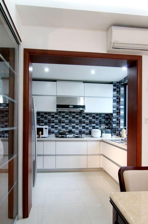 中式风格四居室厨房灶台装修效果图
