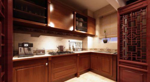中式风格四居室厨房橱柜装修效果图大全