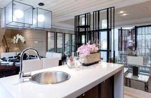 中式风格四居室厨房隔断装修效果图大全