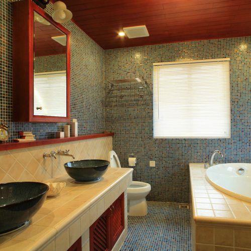中式古典三居室厨房背景墙装修效果图欣赏