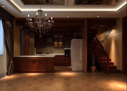 中式风格四居室厨房橱柜装修效果图