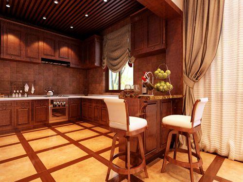 新中式混搭四居室厨房灶台装修效果图大全