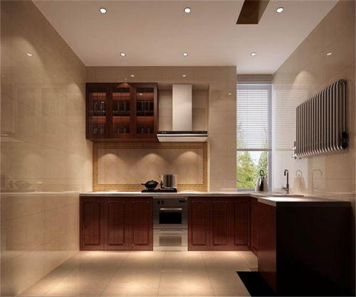新中式风格三居室厨房灯具装修效果图
