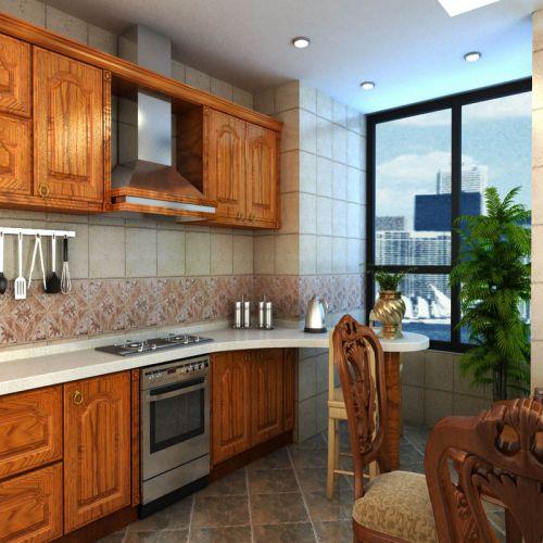 中式古典四居室厨房装修图片欣赏