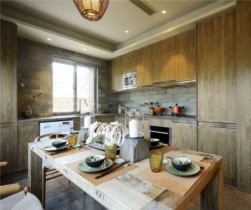 中式古典四居室厨房灯具装修效果图大全