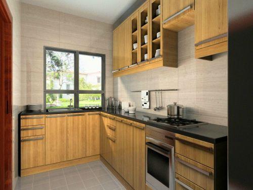 中式风格三居室厨房橱柜装修效果图