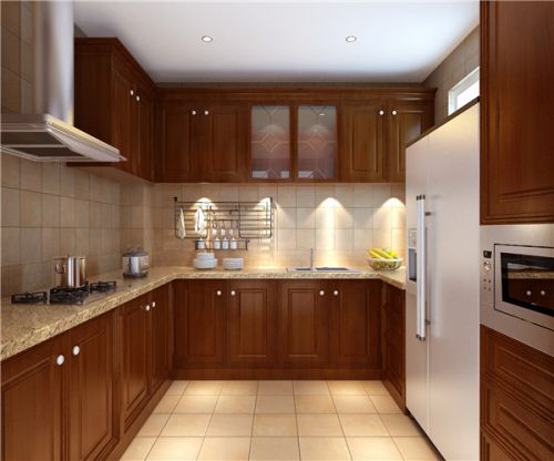 中式古典别墅厨房装修效果图欣赏